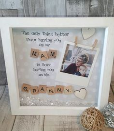Check out this item in my Etsy shop https://www.etsy.com/uk/listing/502632566/grandma-frame-nana-scrabble-art-frame