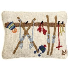 All the comfort of your own ski rack, with none of the clutter! This hand-hooked wool pillow from RC Willey is your own cozy ski rack on cold nights. Pair it with your favorite chair or upholstery set. Diy Old Books, Old Book Crafts, Wool Pillows, Throw Pillows, Cushions, Cork, Ski Lodge Decor, Ski Rack, Japanese Embroidery