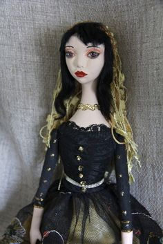 Art Doll Gothic Gypsy by PearlMoonArts on Etsy, $85.00