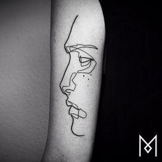 Minimal Single-Line Tattoos by Mo Ganji - UltraLinx