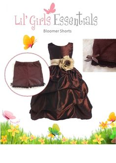 Cute modesty bloomer shorts for your little girl to wear for Under wedding dress essentials