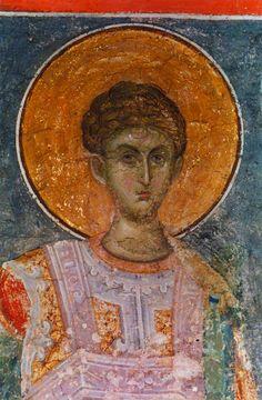 Άγιος Δημήτριος / Saint Demetrius Byzantine Icons, Byzantine Art, Russian Icons, Saint George, Ikon, Mona Lisa, Saints, Angel, Artwork