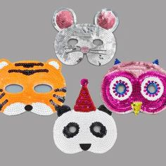 Even more summer madness!! Buy One of these 4 sequin masks and Get One Free!! (offer only on Mouse Tiger Owl and Panda masks) http://ift.tt/29TWORP #flossandrock #summermadness #BOGOF #mouse #tiger #owl #panda #party #facemask #sequins
