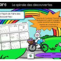 Préscolaire-spirale des découvertes- Caroline Gingras Créations Creations, Boutique, Products, Boutiques