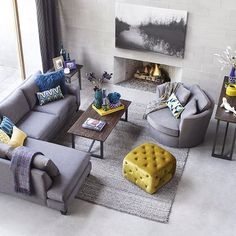 How To Quickly And Easily Create A Living Room Furniture Layout? Living Room Sectional, Living Room Grey, Home Living Room, Living Room Furniture, Living Room Designs, Living Room Decor, Sectional Furniture, Condo Living, Modular Furniture