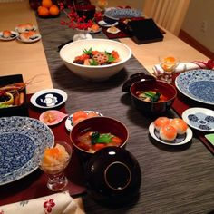 Traditional Japanese New Year Day's Dinner