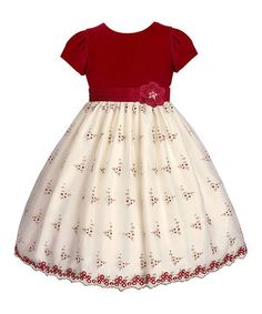 Loving this Ruby Red Berries A-Line Dress - Girls on #zulily! #zulilyfinds