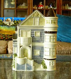 Vintage Otagiri Cookie Jar Canister San Francisco Row House Victorian Brownstone
