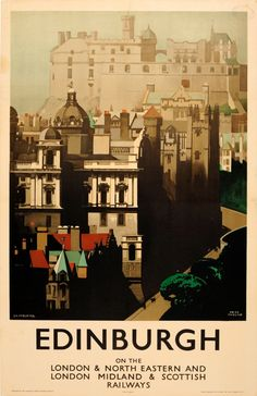 Edinburgh LNER LMS Fred Taylor Scotland UK / 1930s / Travel Posters / Fred Taylor / 101x63.5 Original vintage travel… / MAD on Collections - Browse and find over 10,000 categories of collectables from around the world - antiques, stamps, coins, memorabilia, art, bottles, jewellery, furniture, medals, toys and more at madoncollections.com. Free to view - Free to Register - Visit today. #Posters #Travel #MADonCollections #MADonC