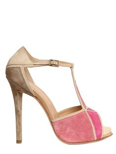 ROGER VIVIER - 120MM PRISMICK SUEDE SANDALS - LUISAVIAROMA - LUXURY SHOPPING WORLDWIDE SHIPPING - FLORENCE