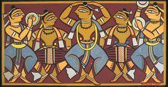 Jamini Roy - Artist Art for Sale - Jamini Roy Indian Artwork, Indian Folk Art, Indian Art Paintings, Modern Art Paintings, Indian Artist, Phad Painting, Silk Painting, Saree Painting, Madhubani Art