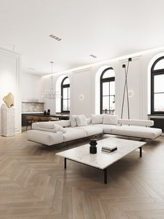 Kardashian Home Interior Old Podol apartment - Dezign Ark (Beta).Kardashian Home Interior Old Podol apartment - Dezign Ark (Beta) Interior Design Minimalist, Modern House Design, Modern Interior Design, Interior Design Living Room, Living Room Designs, Modern French Interiors, Contemporary Interior, Modern French Decor, Modern Classic Interior