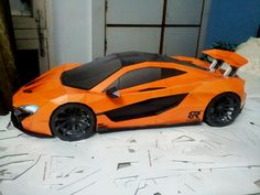 McLaren P1 DIY papercraft model built by Bhuvan Raheja of Inda. Get and build yours at http://visualspicer.com/store