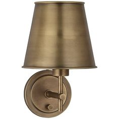 """A clean and sleek addition to any wall, the Robert Abbey Aiden Wall Sconce presents style, substance and affordability. Aiden offers a pin-up option in addition to the ability to hardwire into the wall, and includes a 24"""" cord cover to readily facilitate that desire."""