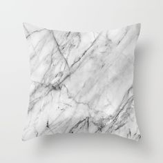 Marble Throw Pillow by Patterns and Textures. Worldwide shipping available at Society6.com.