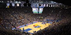 There's not a bad seat or view from inside Allen Fieldhouse.