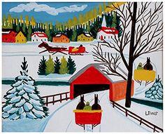 comprehensive artist bio + work of Maud Lewis, Canadian folk artist