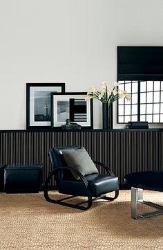 a work of art the ralph lauren home hudson street lounge chair shown in a