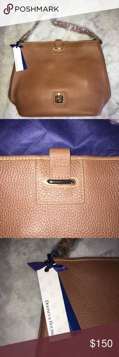 Dooney & Bourke Shoulder Bag Never been worn!! Plastic, wrappings, and tags still on the bag! Beautiful chestnut pebble leather, lots of storage and lots of pockets and compartments within the bag. Also has a key chain hook for your car/ house keys! Dustbag included! Dooney & Bourke Bags Shoulder Bags