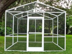 Diy Backyard Butterfly House Made From Window Screens From