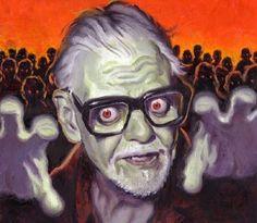 George A Romero Zombie Zombie Kunst, Arte Zombie, Zombie Art, Horror Art, Horror Movies, Funny Horror, Horror Icons, Gothic Horror, Zombies