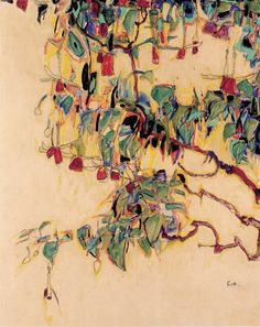 Sonnenbaum (Sunlit tree) - 1910 Egon Schiele