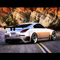 Awesome Nissan 350Z body kit with an oversize booty....but I could work with it!