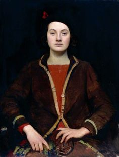 "Don't think I know George Spencer Watson's work, it makes me think of portraiture from the Elizabethan age and earlier. ""Mary"" - 1932."