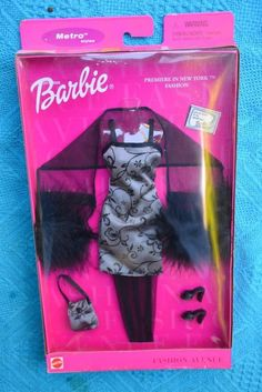 Collectable 2000 Mattel Fashion Avenue Barbie Outfit Unopened Premiere in NY | eBay