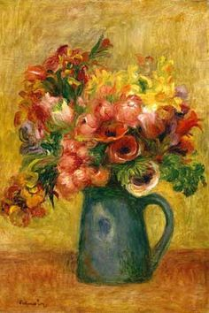 Pitcher of Flowers by Renoir