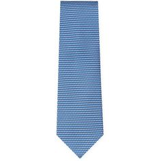 Salvatore Ferragamo Floral Printed Tie - Blue ($129) ❤ liked on Polyvore featuring men's fashion, men's accessories, men's neckwear, ties and blue
