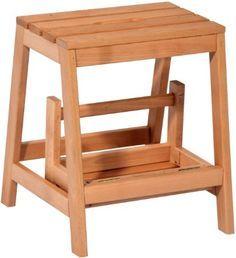 dobar Stabiler Klapphocker aus FSC Holz, 2 Stufen Tritthocker klappbar, 53/39 x 38 x 45 cm, buche massiv, 29730FSC: Amazon.de: Baumarkt