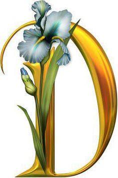 Alfabeto de orquídeas. | Oh my Alfabetos!