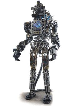 Boston Dynamics and DARPA (US Dept of Defense) have introduced this new robot. It is six feet high and weighs 300 pounds. it is designed to help out in disasters or help soldiers carry heavy gear. It can move heavy objects blocking a path or lift rubble. It can climb over obstacles using hands and feet and is impervious to hazardous chemicals.