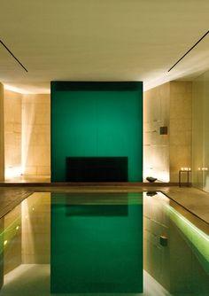 Bulgari hotel spa/pool.