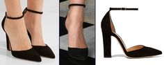 "The Duchess was in another pair of shoes by Gianvito Rossi, the label's Suede d'Orsay Pump, also called the ""54″ Mary Jane Pump. It features a narrow block heel that is 4″ in height, a pointed toe, and ankle strap."