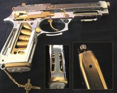 This is one of the guns for the movie Romeo & juliet, the modern set version. Probably the most ... ornate collection of custom guns in a movie I have ever seen..