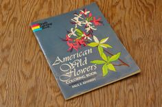 Vintage 70s American Wild Flowers Coloring Book by SycamoreVintage