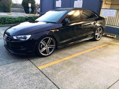 VWVortex.com - a3 sline sedan black lowered with h&r super sport springs