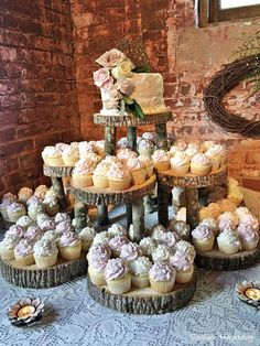 One Minute to Learn How to Create A Stunning Fall Wedding---rusitc cupcake wedding dessert diy on the wooden stump, country barn wedding ideas wedding food One Minute to Learn How to Create A Stunning Fall Wedding Wedding Reception On A Budget, Wedding Planning On A Budget, Wedding Decorations On A Budget, Wedding Venues, Wedding Advice, Weddings On A Budget, Wedding Table, Budget Bride, Lake Wedding Ideas