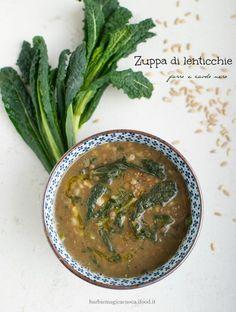 zuppa di lenticchie farro e cavolo nero