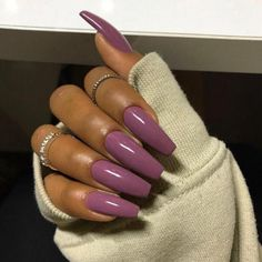 Hair and nails, my nails, how to do nails, love nails, long nails tum Cute Acrylic Nails, Acrylic Nail Designs, Cute Nails, Pretty Nails, Pink Acrylics, Purple Nails, Dark Nails, Long Nails, Plum Nails