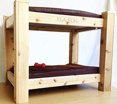 Bark's Big Dog Bunk Bed with Toy Chest Step Up - Luxery Pet Bed