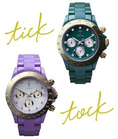 love these colorful watches