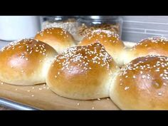 These fluffy, golden Sourdough Hamburger Buns will bring your burger night to the next level! Start the dough in the morning, and buns are ready by dinner. Sourdough Hamburger Buns Recipe, Sourdough Bread, Butterhorn Rolls Recipe, Burger Night, Brioche Bread, Little Kitchen, Recipe Please, Burger Recipes, Dry Yeast