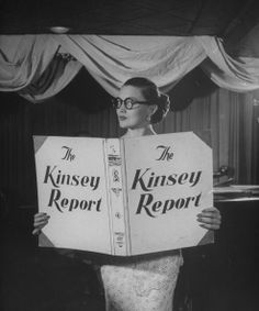 Peter Stackpole - Nightclub singer Julie Wilson, starting her song by pretending to read the Kinsey Report, 1948. Check this out.