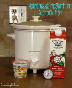 Homemade Yogurt in a Crock Pot