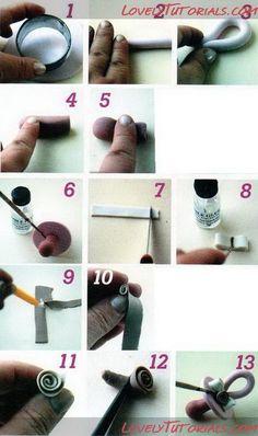 "МК лепка ""соска-пустышка"" -gum paste (fondant) Pacifier tutorial - Мастер-классы по украшению тортов Cake Decorating Tutorials (How To's) Tortas Paso a Paso"