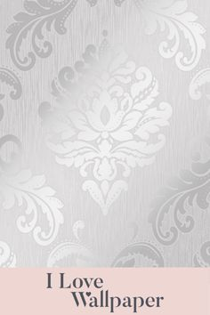 Set on a sumptuous heavyweight texture, this timeless damask wallpaper design is brought to life with areas of metallic soft mica and touches of real glitter for a truly stunning effect. Finding the balance of contemporary and classic, this soft grey and silver finish oozes finesse and is perfectly suited to many interior colour schemes. Our Chelsea Glitter Damask wallpaper is suitable for full rooms or for creating a beautiful feature wall. Damask Wallpaper, Love Wallpaper, Designer Wallpaper, Interior Color Schemes, Colour Schemes, Glitter Background, Colorful Interiors, Chelsea, Metallic