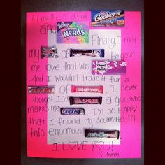 Birthday Wishes Using Candy Bars  Posted by Lacey Davies at 1155